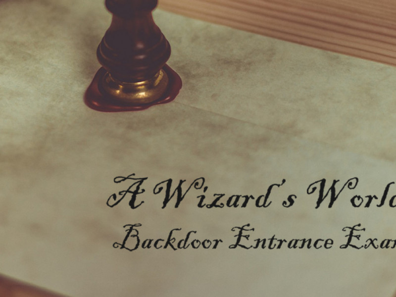 A Wizard's World: Backdoor Entrance Exam photo 1